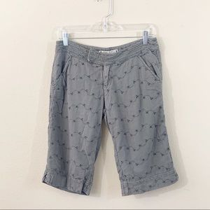 HEI HEI Anthropologie Eyelet Bermuda Shorts